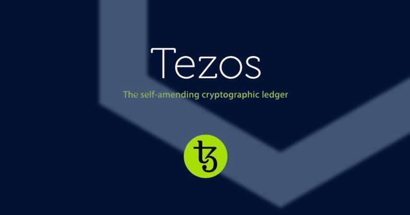 Tezos logo and tag line